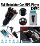 FM трансмитер,2 x USB, Bluetooth, Hands Free, CAR MP3 player X10